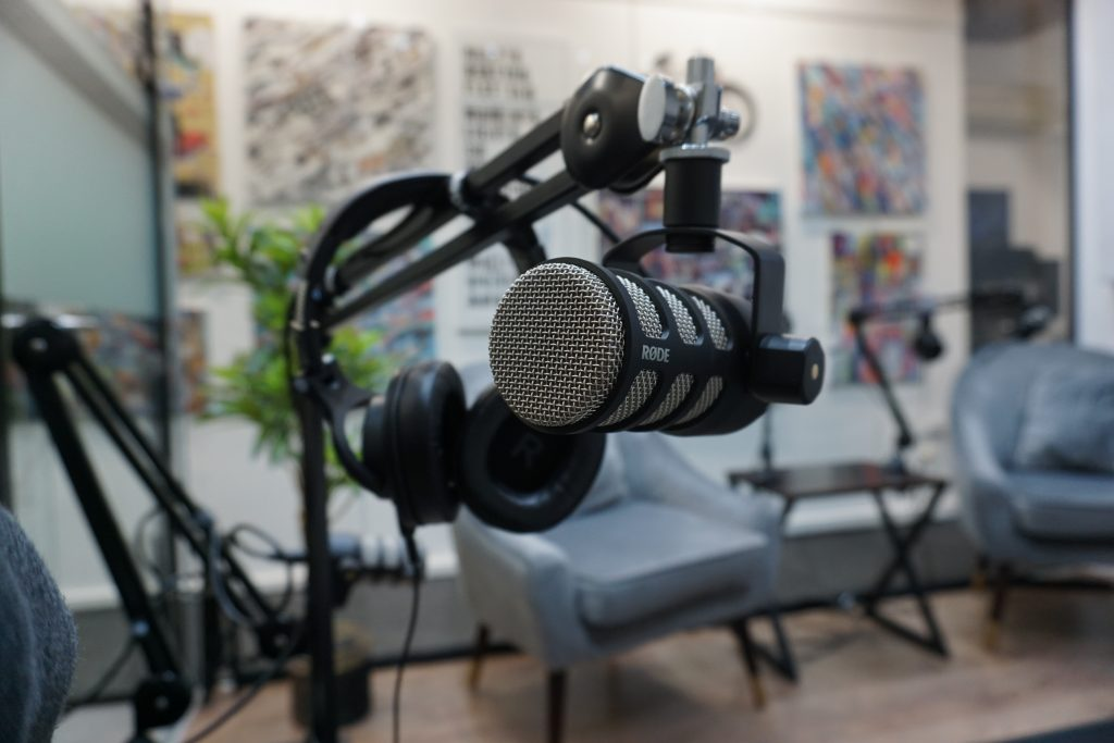 Podcast Room with Rode Podmic